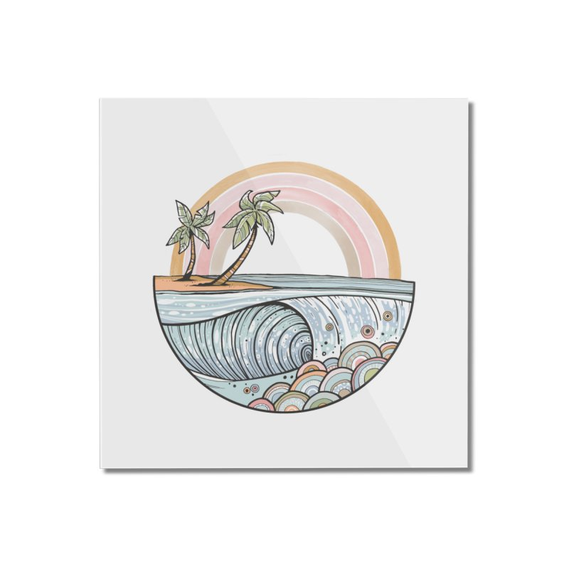 Summer Swell Home Mounted Acrylic Print by Chapman at Sea // surf art by Tash Chapman