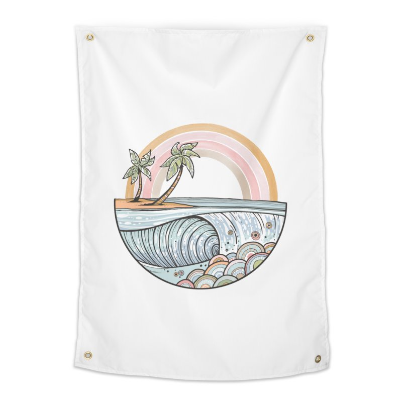 Summer Swell Home Tapestry by Chapman at Sea // surf art by Tash Chapman