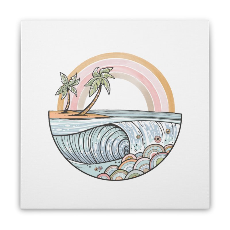 Summer Swell Home Stretched Canvas by Chapman at Sea // surf art by Tash Chapman