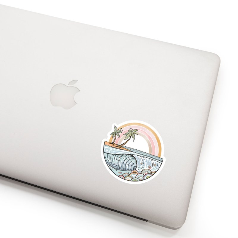 Summer Swell Accessories Sticker by Chapman at Sea // surf art by Tash Chapman