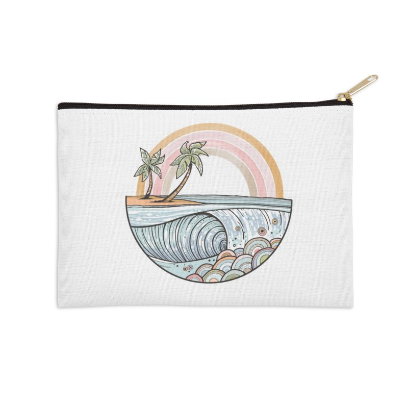 Summer Swell Accessories Zip Pouch by Chapman at Sea // surf art by Tash Chapman