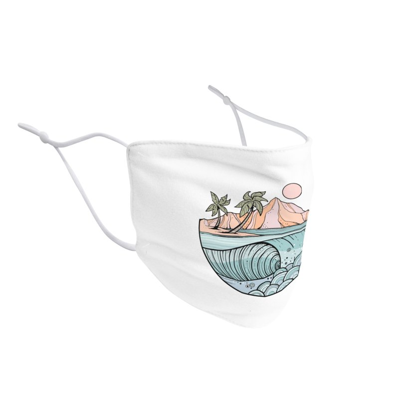 Aloha Swell Accessories Face Mask by Chapman at Sea // surf art by Tash Chapman