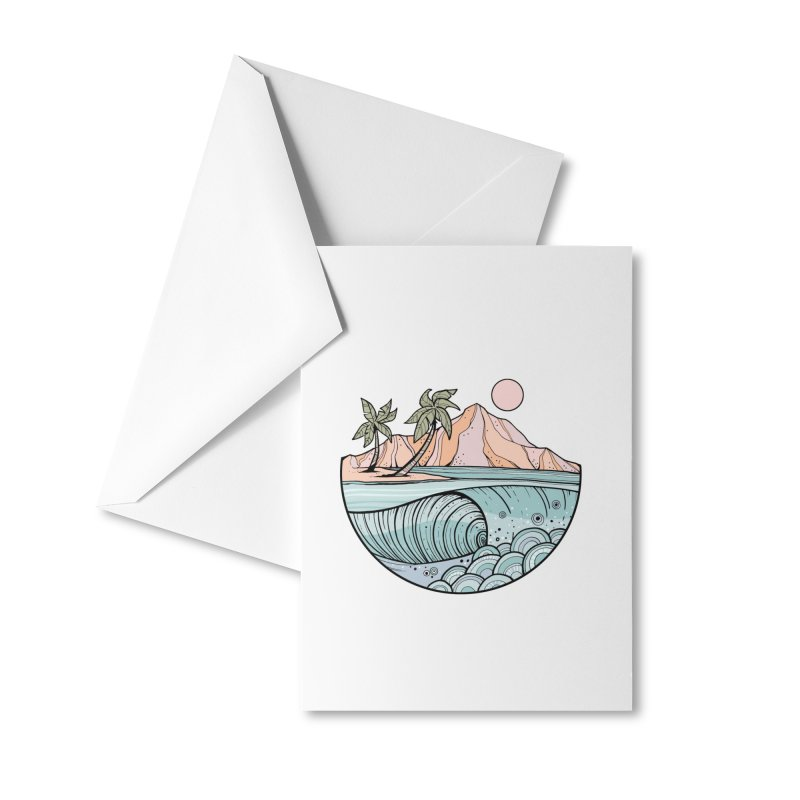 Aloha Swell Accessories Greeting Card by Chapman at Sea // surf art by Tash Chapman