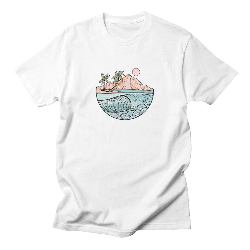 Aloha Swell Men's T-Shirt by Chapman at Sea // surf art by Tash Chapman