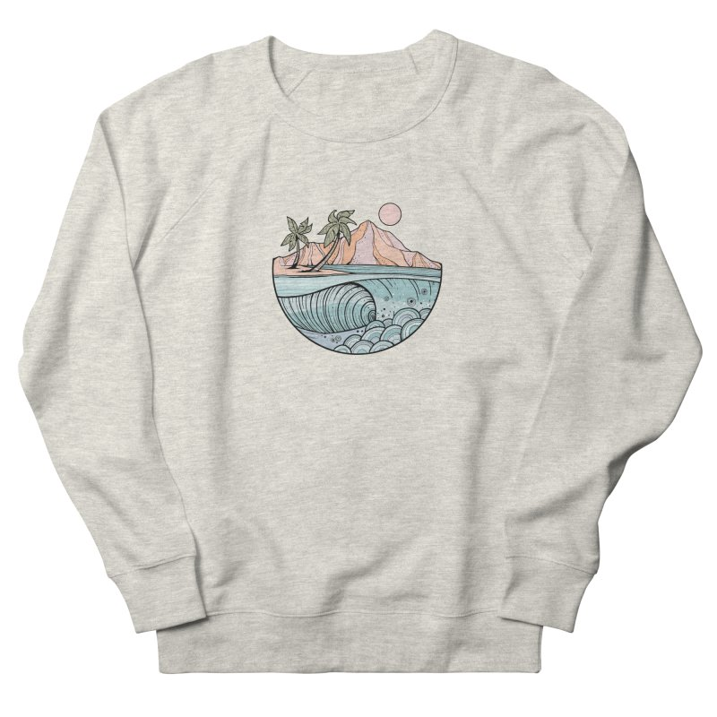Aloha Swell Men's Sweatshirt by Chapman at Sea // surf art by Tash Chapman