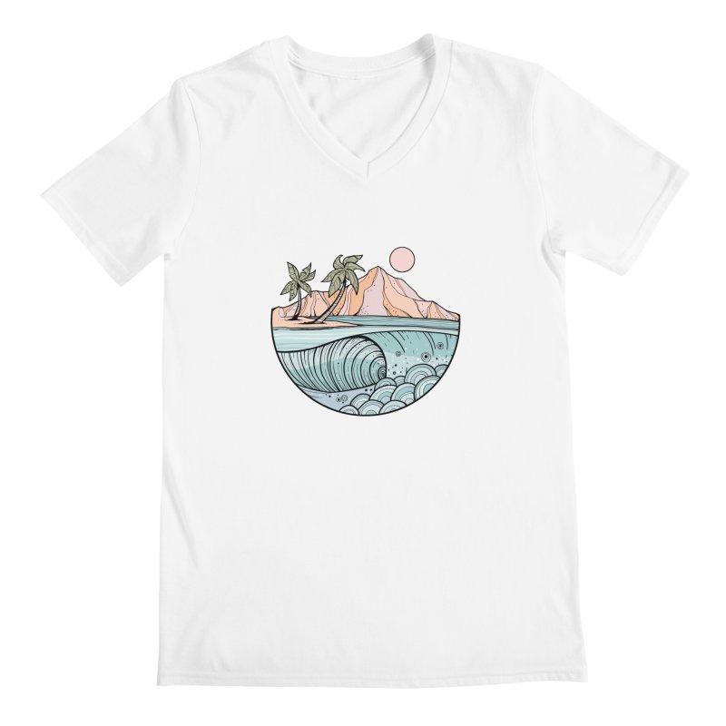 Aloha Swell Men's V-Neck by Chapman at Sea // surf art by Tash Chapman