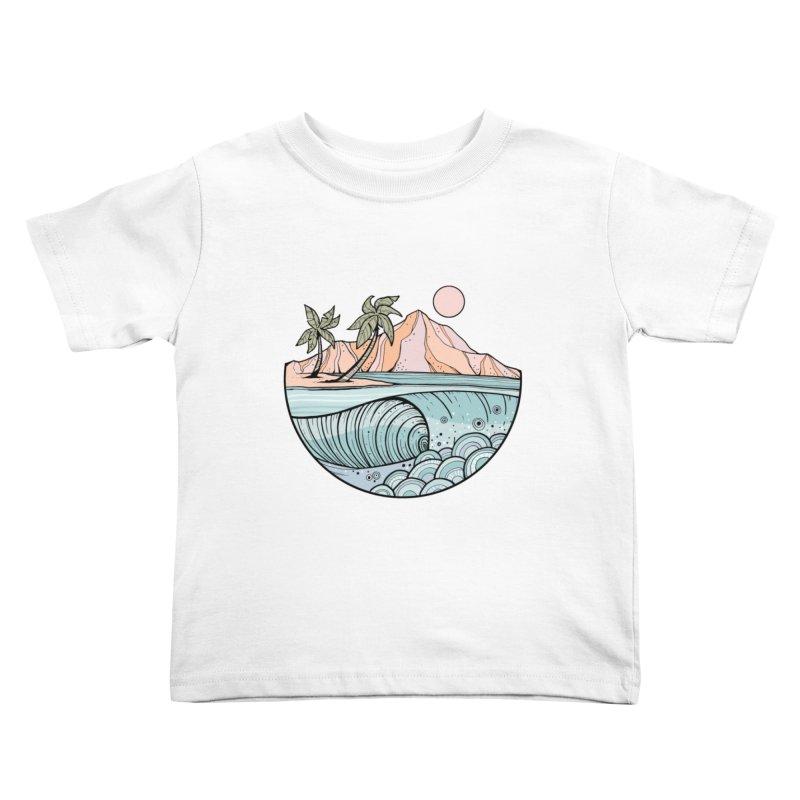 Aloha Swell Kids Toddler T-Shirt by Chapman at Sea // surf art by Tash Chapman