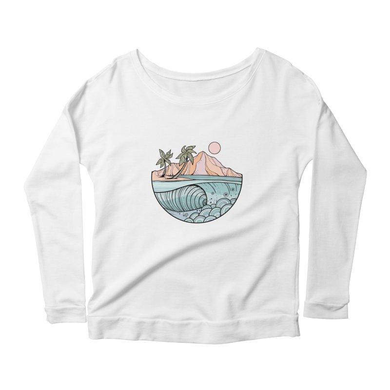 Aloha Swell Women's Longsleeve T-Shirt by Chapman at Sea // surf art by Tash Chapman