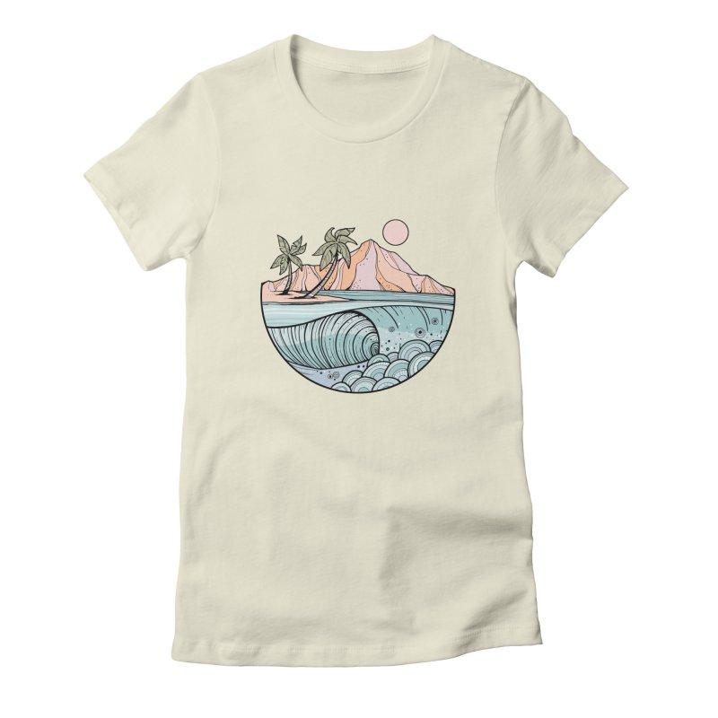 Aloha Swell Women's T-Shirt by Chapman at Sea // surf art by Tash Chapman