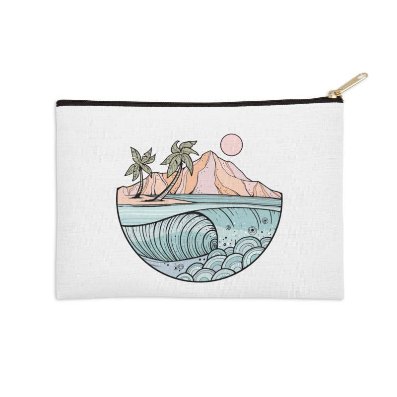 Aloha Swell Accessories Zip Pouch by Chapman at Sea // surf art by Tash Chapman