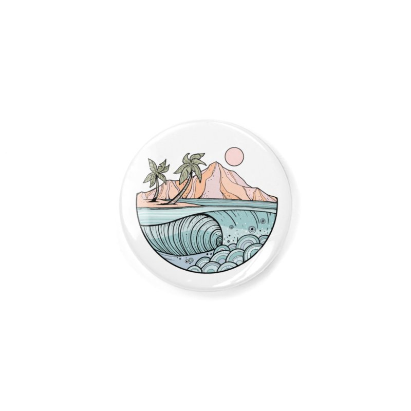 Aloha Swell Accessories Button by Chapman at Sea // surf art by Tash Chapman