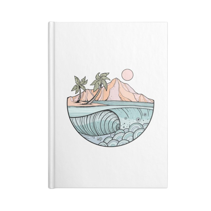 Aloha Swell Accessories Notebook by Chapman at Sea // surf art by Tash Chapman