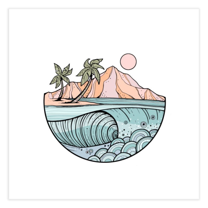 Aloha Swell Home Fine Art Print by Chapman at Sea // surf art by Tash Chapman