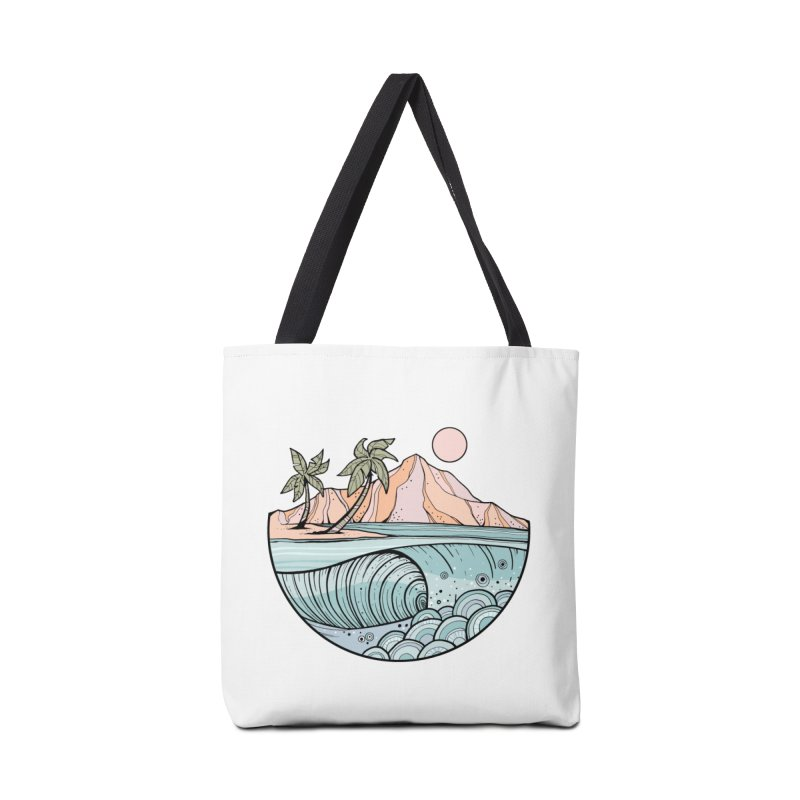 Aloha Swell Accessories Bag by Chapman at Sea // surf art by Tash Chapman