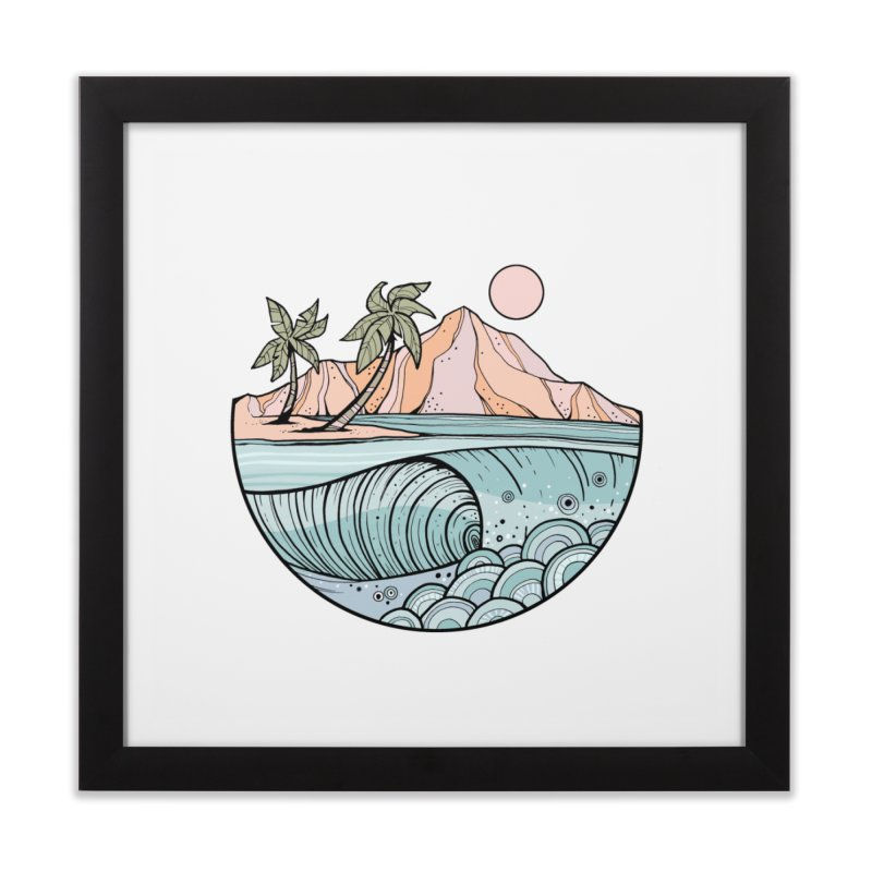 Aloha Swell Home Framed Fine Art Print by Chapman at Sea // surf art by Tash Chapman