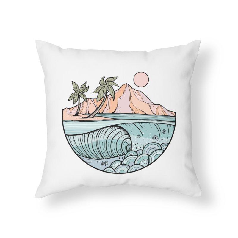Aloha Swell Home Throw Pillow by Chapman at Sea // surf art by Tash Chapman