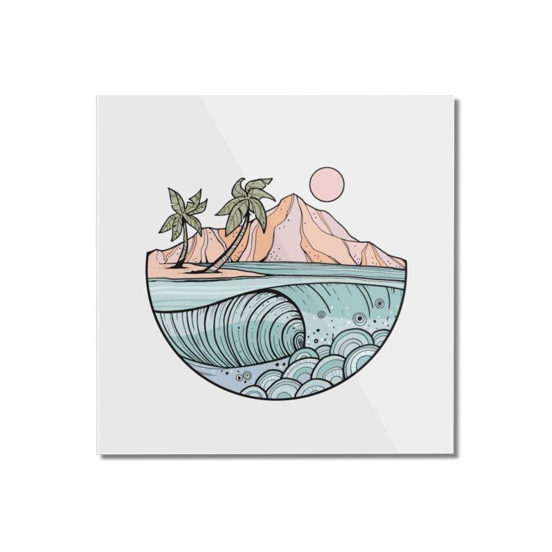 Aloha Swell Home Mounted Acrylic Print by Chapman at Sea // surf art by Tash Chapman