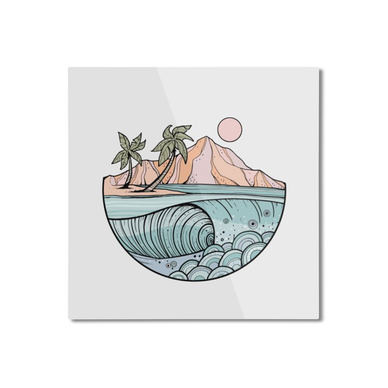 Aloha Swell Home Mounted Aluminum Print by Chapman at Sea // surf art by Tash Chapman