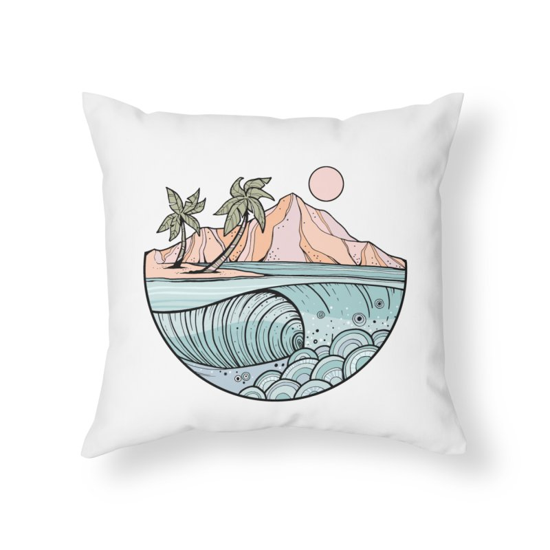 Aloha Swell Home Throw Pillow by Chapman at Sea // surf art by Tash Chapman