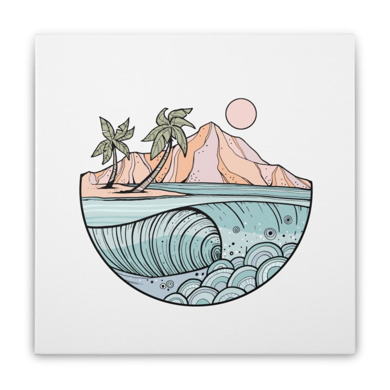 Aloha Swell Home Stretched Canvas by Chapman at Sea // surf art by Tash Chapman