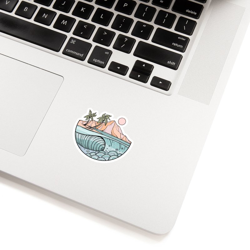 Aloha Swell Accessories Sticker by Chapman at Sea // surf art by Tash Chapman