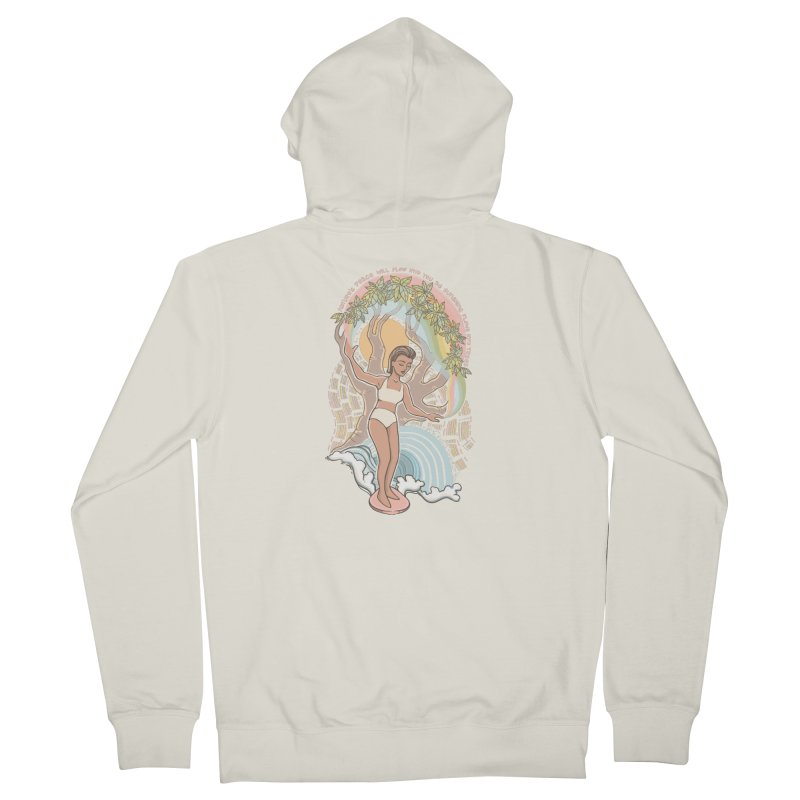 Nature's Peace Men's Zip-Up Hoody by Chapman at Sea // surf art by Tash Chapman