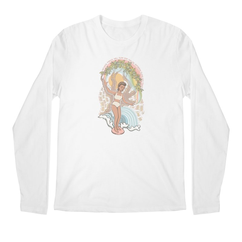 Nature's Peace Men's Longsleeve T-Shirt by Chapman at Sea // surf art by Tash Chapman