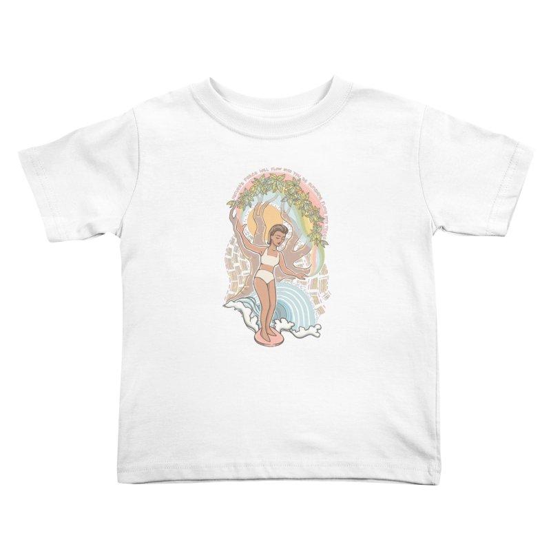Nature's Peace Kids Toddler T-Shirt by Chapman at Sea // surf art by Tash Chapman