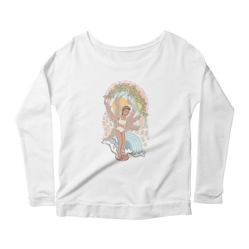 Nature's Peace Women's Longsleeve T-Shirt by Chapman at Sea // surf art by Tash Chapman