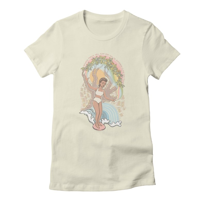 Nature's Peace Women's T-Shirt by Chapman at Sea // surf art by Tash Chapman