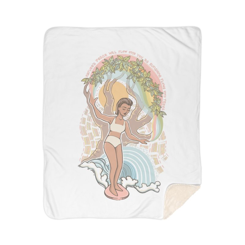 Nature's Peace Home Blanket by Chapman at Sea // surf art by Tash Chapman