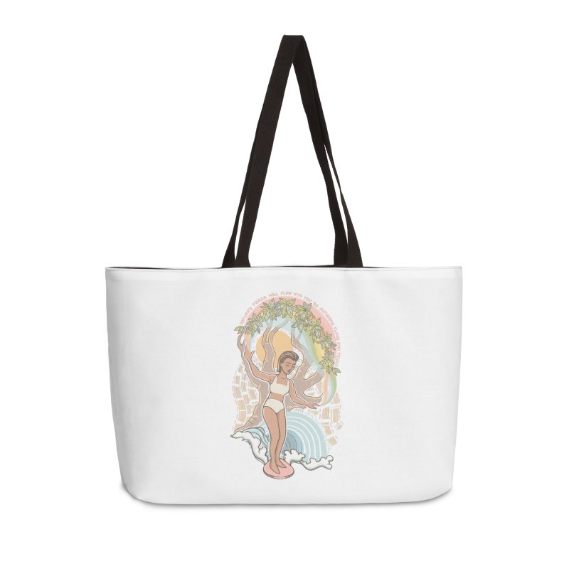 Nature's Peace Accessories Bag by Chapman at Sea // surf art by Tash Chapman