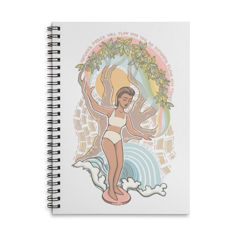 Nature's Peace Accessories Notebook by Chapman at Sea // surf art by Tash Chapman