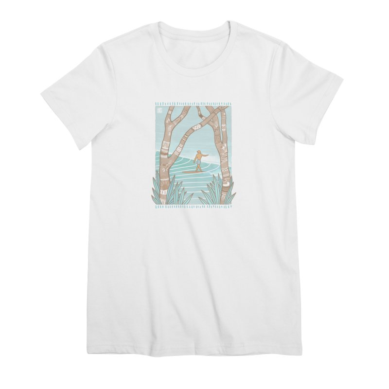 Secret Spot Women's T-Shirt by Chapman at Sea // surf art by Tash Chapman
