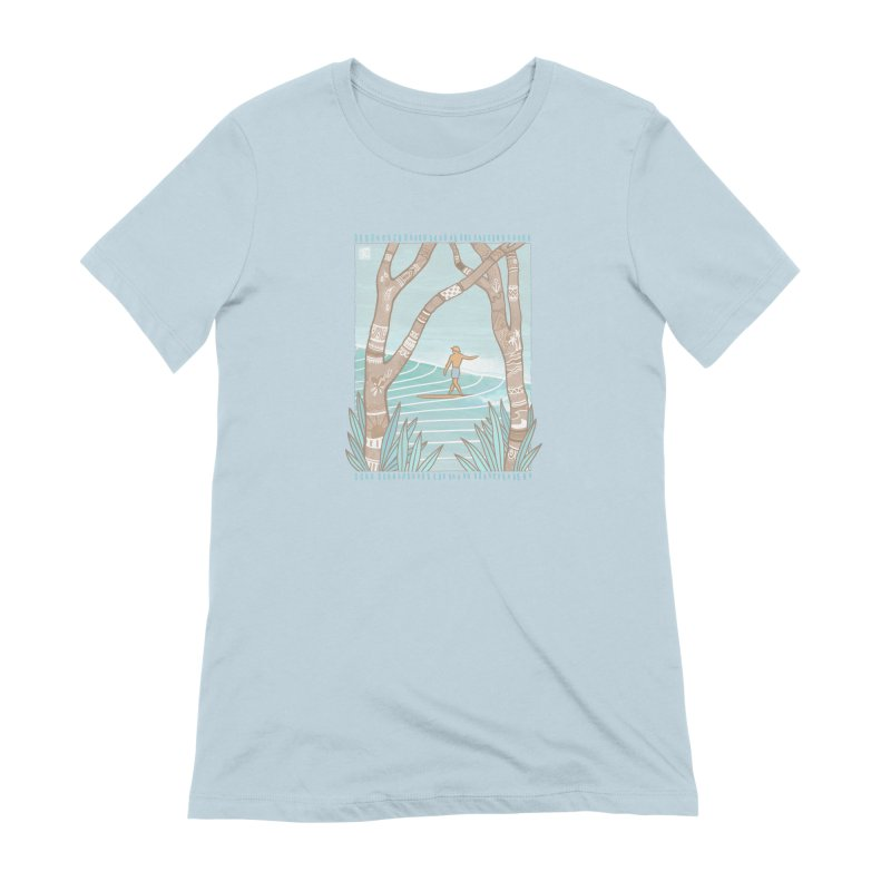 Secret Spot Women's T-Shirt by Chapman at Sea // surf art by Tash Chapman