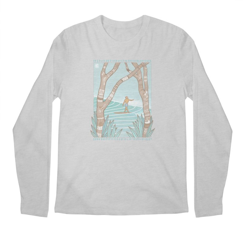 Secret Spot Men's Longsleeve T-Shirt by Chapman at Sea // surf art by Tash Chapman