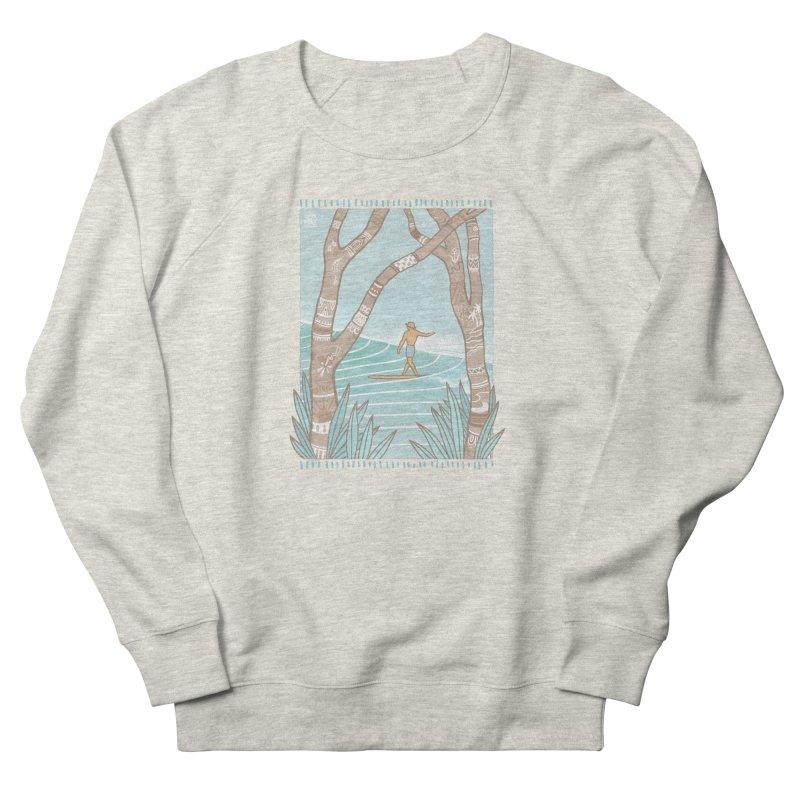 Secret Spot Men's Sweatshirt by Chapman at Sea // surf art by Tash Chapman