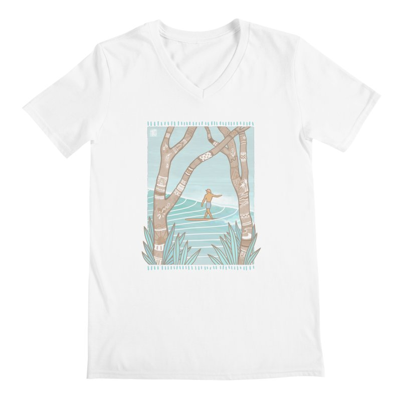 Secret Spot Men's V-Neck by Chapman at Sea // surf art by Tash Chapman
