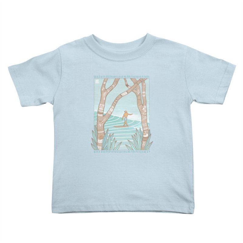 Secret Spot Kids Toddler T-Shirt by Chapman at Sea // surf art by Tash Chapman