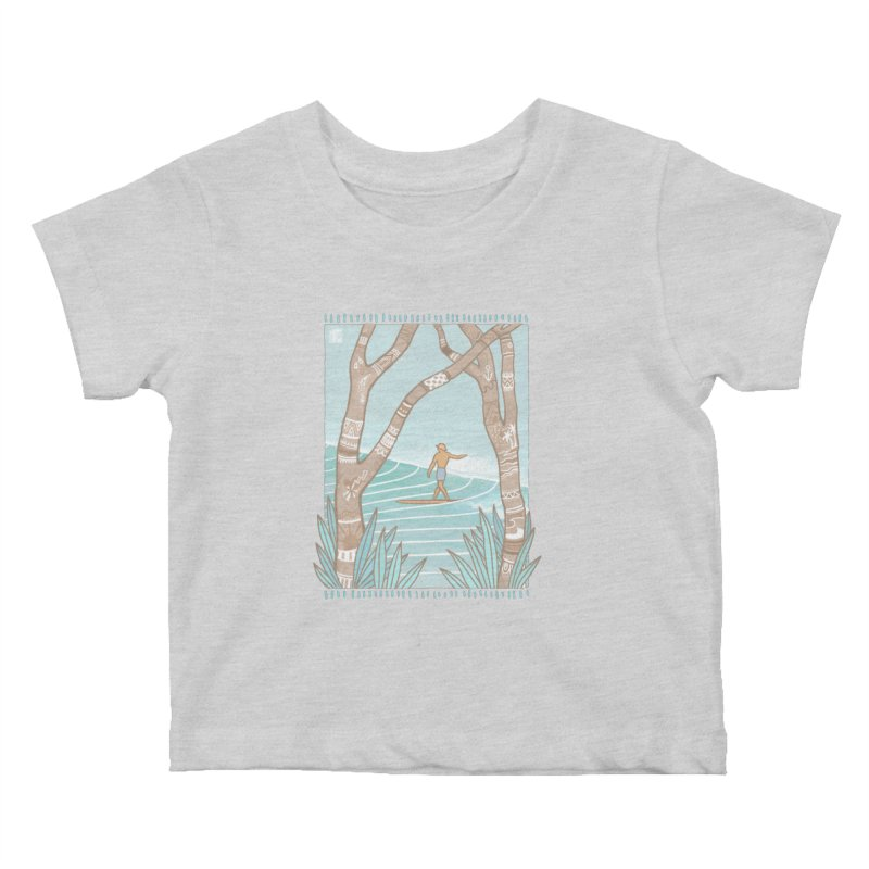 Secret Spot Kids Baby T-Shirt by Chapman at Sea // surf art by Tash Chapman