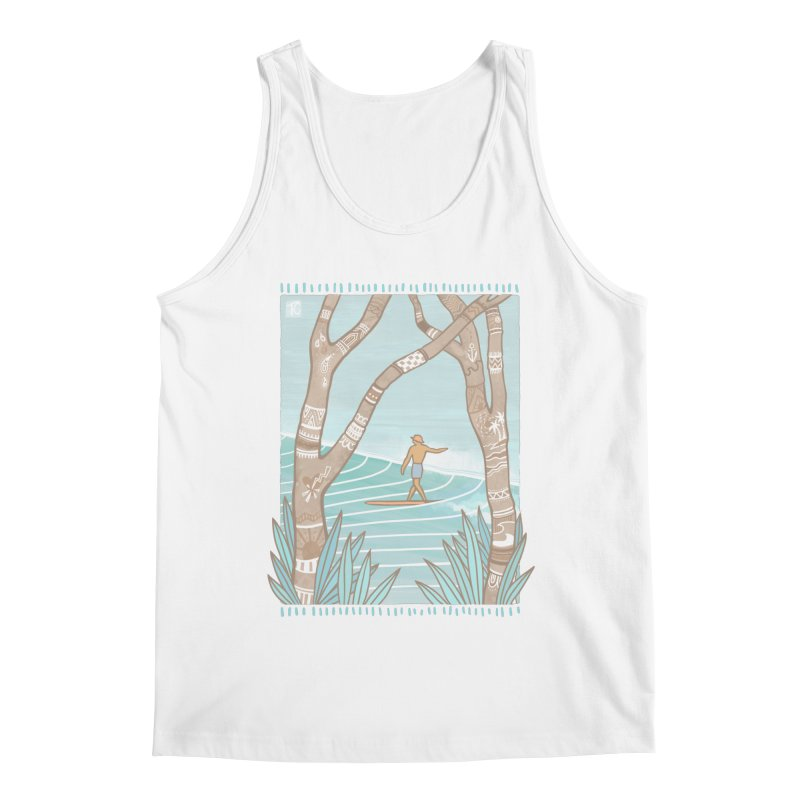 Secret Spot Men's Tank by Chapman at Sea // surf art by Tash Chapman