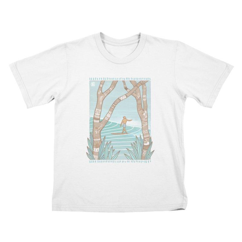 Secret Spot Kids T-Shirt by Chapman at Sea // surf art by Tash Chapman
