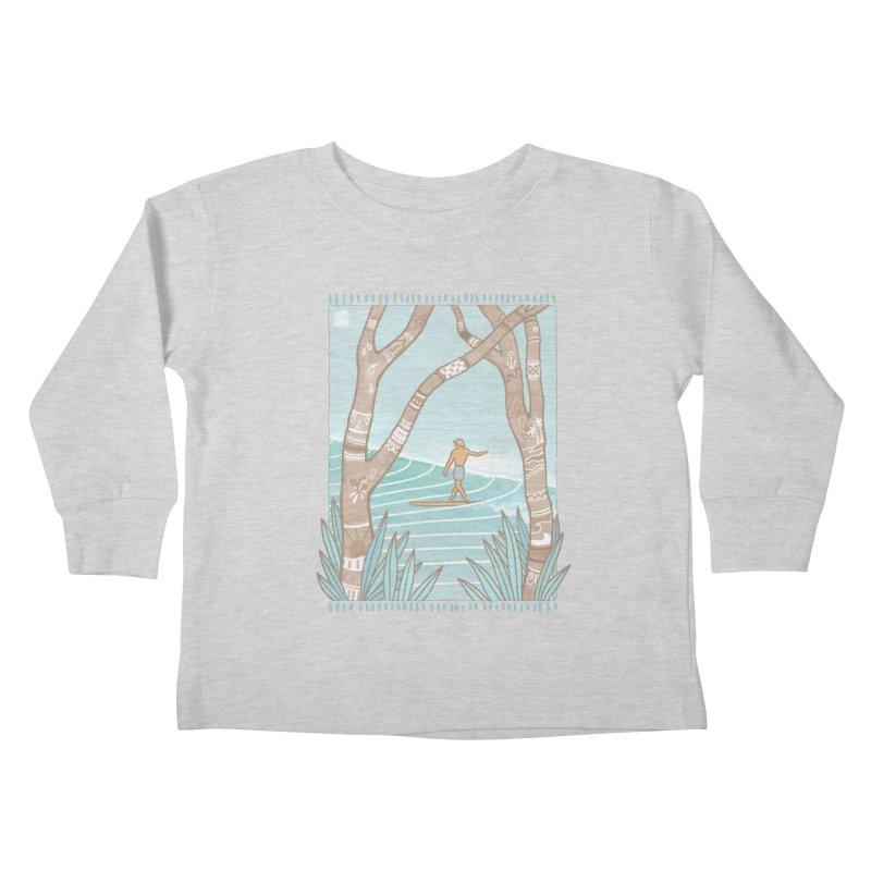 Secret Spot Kids Toddler Longsleeve T-Shirt by Chapman at Sea // surf art by Tash Chapman
