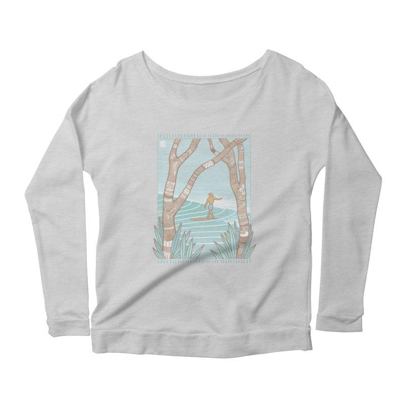 Secret Spot Women's Longsleeve T-Shirt by Chapman at Sea // surf art by Tash Chapman