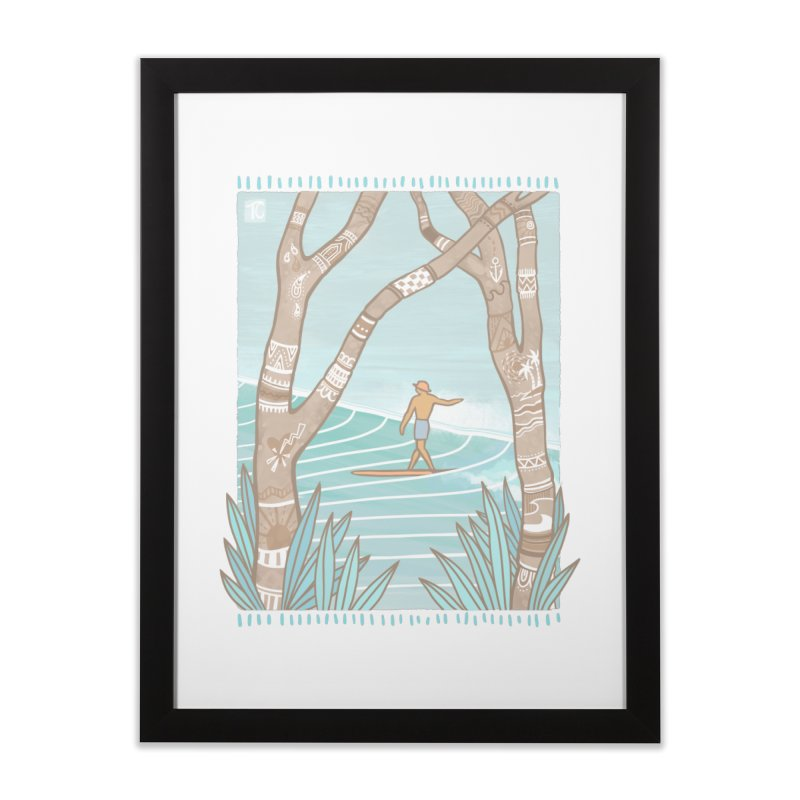 Secret Spot Home Framed Fine Art Print by Chapman at Sea // surf art by Tash Chapman