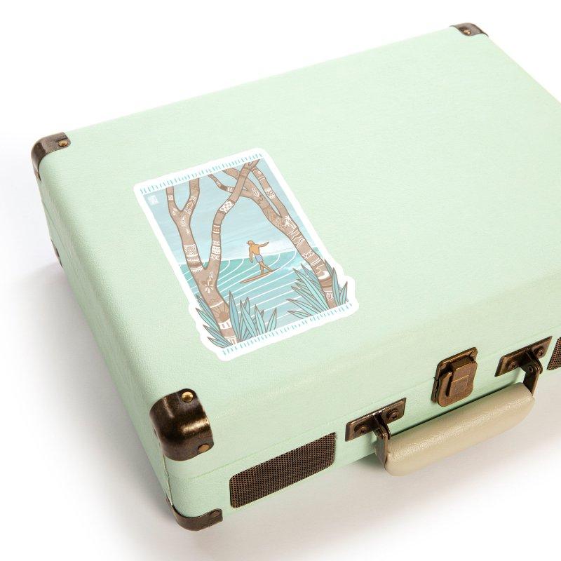Secret Spot Accessories Sticker by Chapman at Sea // surf art by Tash Chapman