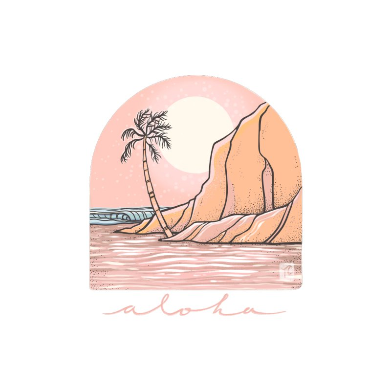Moon Over Aloha Women's V-Neck by Chapman at Sea // surf art by Tash Chapman