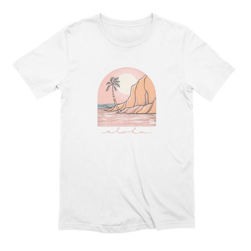 Moon Over Aloha Men's T-Shirt by Chapman at Sea // surf art by Tash Chapman