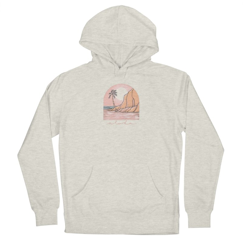 Moon Over Aloha Men's Pullover Hoody by Chapman at Sea // surf art by Tash Chapman