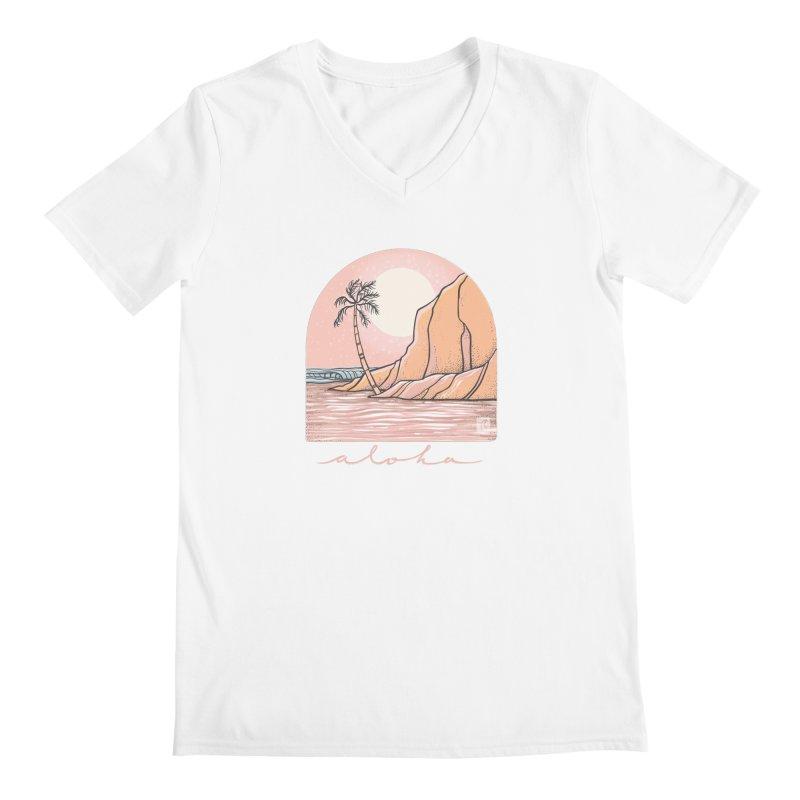Moon Over Aloha Men's V-Neck by Chapman at Sea // surf art by Tash Chapman